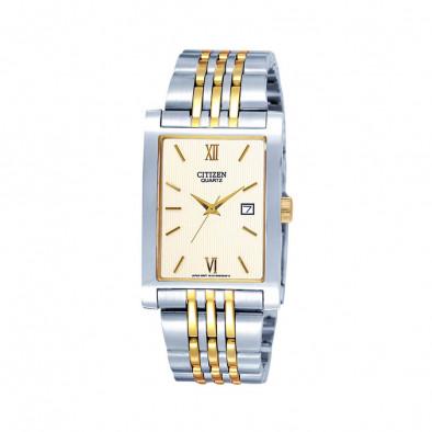 Quartz Gold Dial Two-Tone Quatz Men's Watch BH1378-50A
