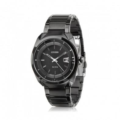 Мъжки часовник Citizen изцяло черен браслет