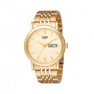 Мъжки часовник Citizen изцяло златист с автоматична дата