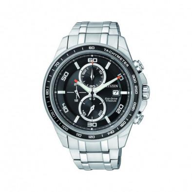 Eco-Drive Super Titanium Chronograph Men's Watch CA0340-55E