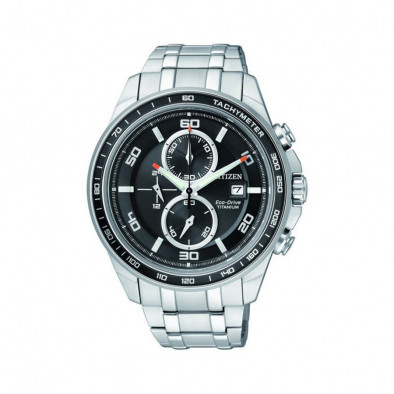 Eco-Drive Super Titanium Chronograph Men's Watch CA0340-55E