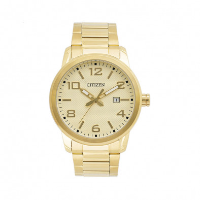 Gold Tone Men's Watch BI1022-51P