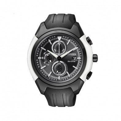 Eco-Drive Black Dial Chronograph Men's Watch CA0286-08E