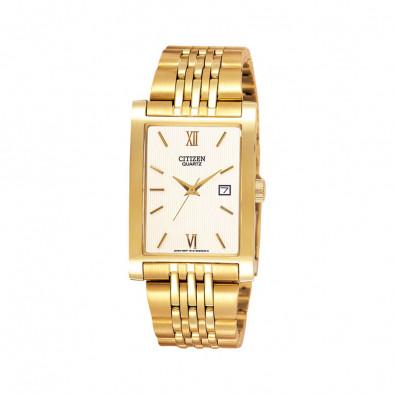 Men's Quartz Gold Tone Elegant  Watch BH1372-56A
