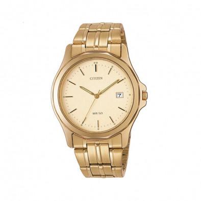 Мъжки часовник Citizen златист браслет
