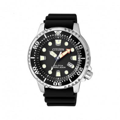 Мъжки часовник Citizen с черна каучукова каишка