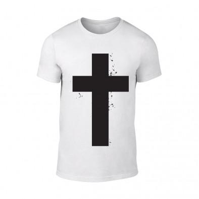 Мъжка бяла тениска Cross TMN-M-097 2