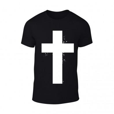 Мъжка черна тениска Cross TMN-M-098 2