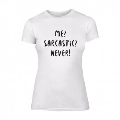 Дамска тениска Me? Sarcastic? Never!, размер XL TMNSPF015XL 2