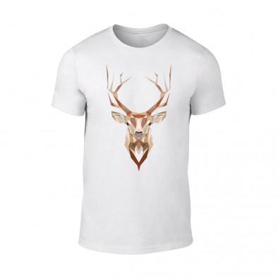Мъжка бяла тениска Deer TMN-M-187 2