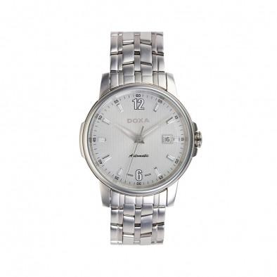 Мъжки часовник DOXA Ethno сребрист браслет с бял циферблат
