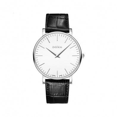 Мъжки часовник DOXA D-Light с бял циферблат
