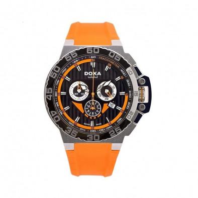 Мъжки часовник DOXA Splash с оранжева каишка
