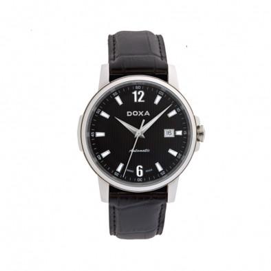 Мъжки часовник DOXA Ethno черен с автоматичен механизъм
