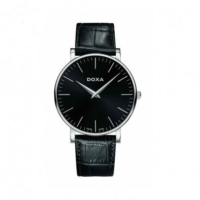 Мъжки часовник DOXA D-Light с черен циферблат