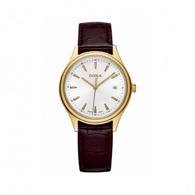 Мъжки часовник DOXA Tradition с кафява каишка