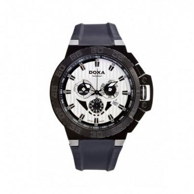 Мъжки часовник DOXA Splash черен с бял циферблат