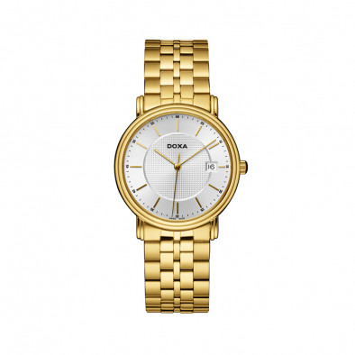 Мъжки часовник DOXA Royal златист с бял циферблат