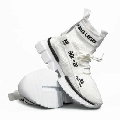 Мъжки бели маратонки чорап Cubic tr260221-2 4