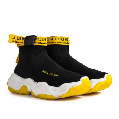 Slip-on Chunky мъжки маратонки в черно gr020221-18 4