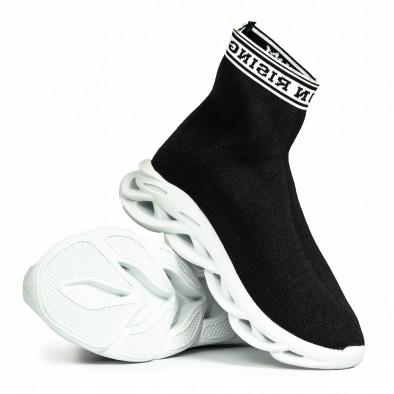 Мъжки черни маратонки Rogue тип чорап it180820-11 5