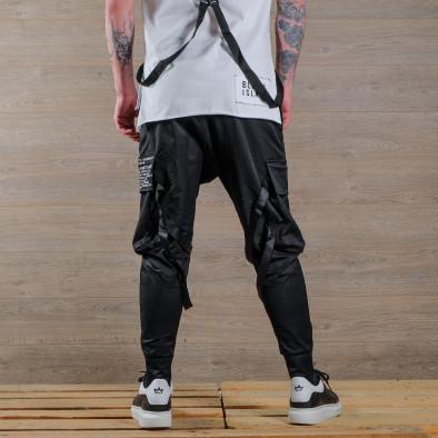 Мъжки еластичен панталон с акценти tr110320-135 3
