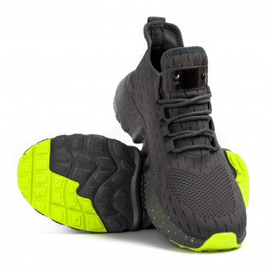 Сиви маратонки чорап с гумиран детайл it180621-2 4