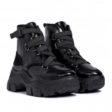 Chunky черни спортни боти с ластици tr201120-2 3