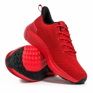 Текстурирани мъжки маратонки в червено it090321-5 4