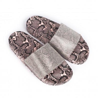 Дамски джапанки змийски мотив в розово it030620-7 3