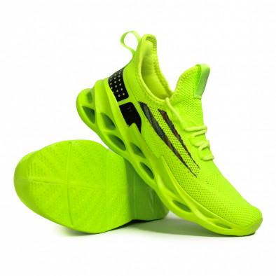 Мъжки неоново зелени маратонки Chevron it090321-1 4