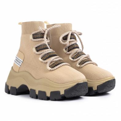Chunky маратонки чорап в бежово tr231020-3 3