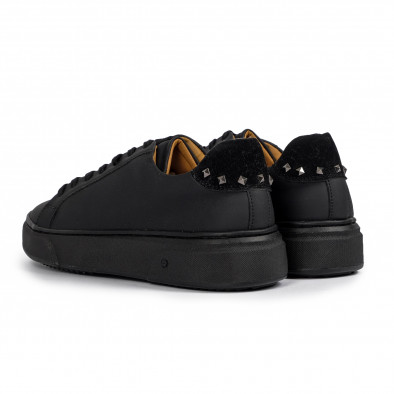 All black мъжки кецове с декорирана пета it300920-57 3