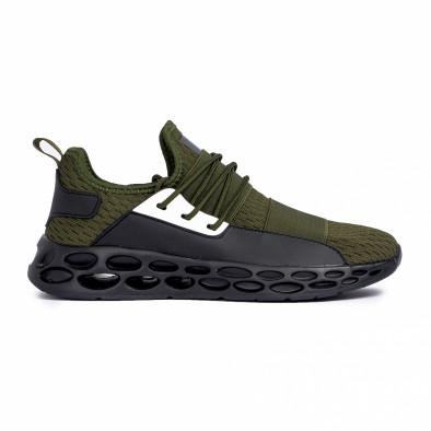 Мъжки зелени маратонки с ластици it180820-4 2