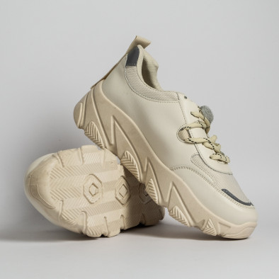 Дамски бежови маратонки Vintage it280820-13 4