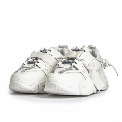 Chunky дамски бели маратонки с акценти it280820-18 4