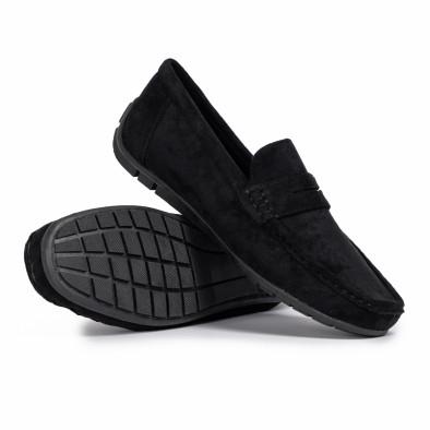 Мъжки спортни мокасини черен велур it140720-1 4