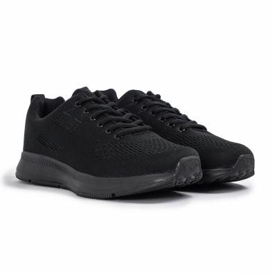 Плетени мъжки маратонки All black it260620-7 3