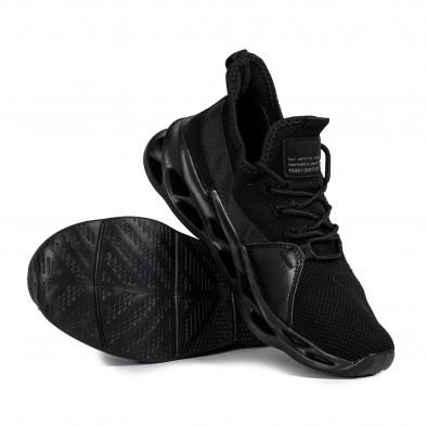 Мъжки маратонки Chevron All black it051021-4 4