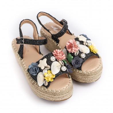 Дамски сандали в черно с декорация it270320-14 2