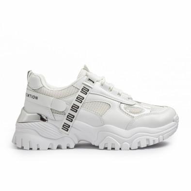 Chunky бели маратонки с декорация it110221-11 2