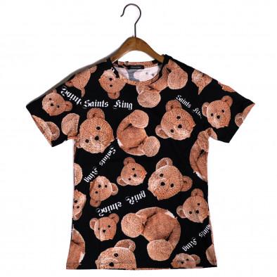 Мъжка тениска Teddy Bear в черно it200421-2 2