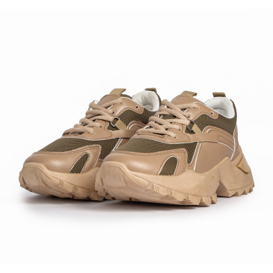 Chunky дамски бежови маратонки it280820-8 3