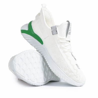 Летни мъжки бели маратонки с акценти gr020221-4 5