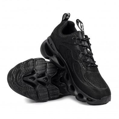 Мъжки черни маратонки Rogue жакард дизайн it051021-5 4