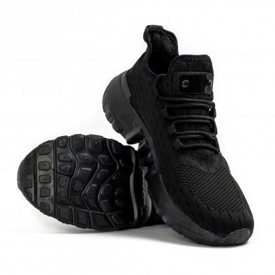All black маратонки чорап с гумиран детайл it180621-4 4