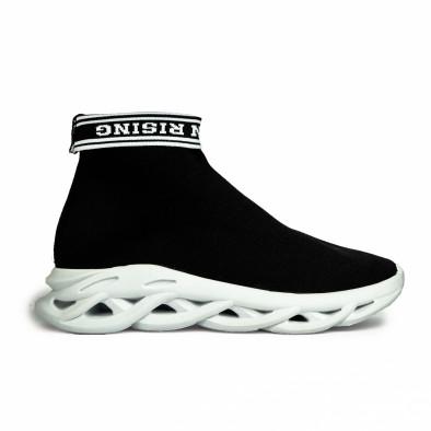 Мъжки черни маратонки Rogue тип чорап it180820-11 3