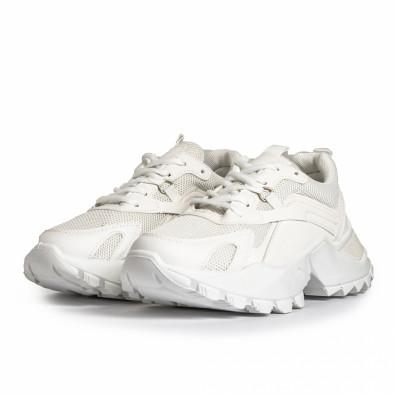 Chunky дамски бели маратонки it280820-7 4