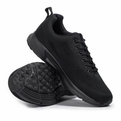 Плетени мъжки маратонки All black it260620-7 4