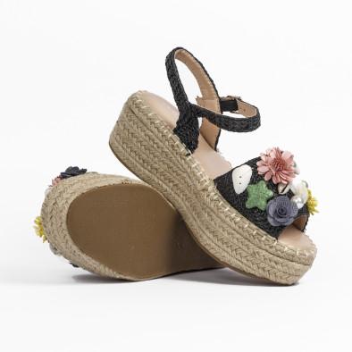 Дамски сандали в черно с декорация it270320-14 5